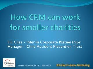 How CRM can work for smaller charities