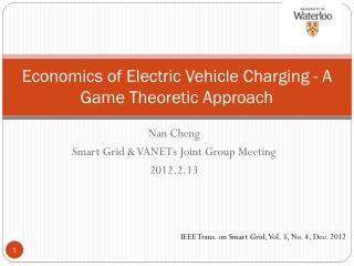 Economics of Electric Vehicle Charging - A Game Theoretic Approach