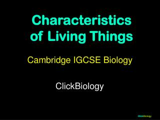 Cambridge IGCSE Biology