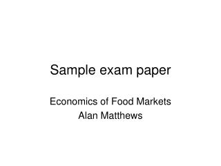 Sample exam paper