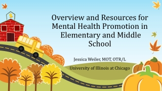 Overview and Resources for Mental Health Promotion in Elementary and Middle School