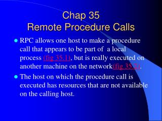 Chap 35  Remote Procedure Calls