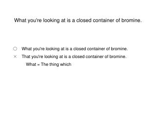 What you're looking at is a closed container of bromine.