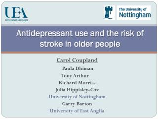 Antidepressant use and the risk of stroke in older people