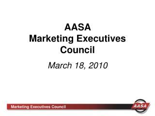 AASA Marketing Executives Council
