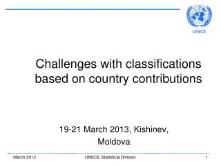 Challenges with classifications based on country contributions
