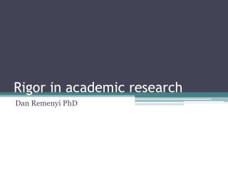 Rigor in academic research