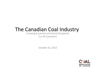 The Canadian Coal Industry