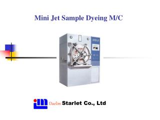 Mini Jet Sample Dyeing M/C