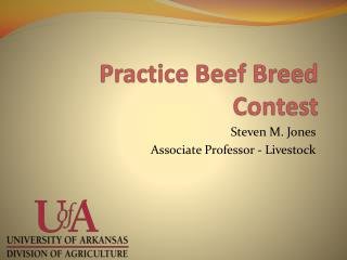Practice Beef Breed Contest