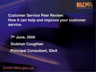 Customer Service Peer Review : How it can help and improve your customer service.