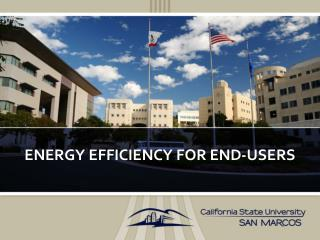 Energy Efficiency for End-Users