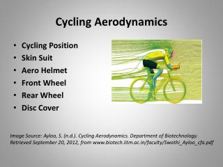 Cycling Aerodynamics
