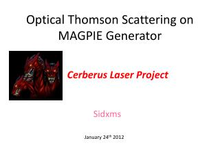 Optical Thomson Scattering on MAGPIE Generator