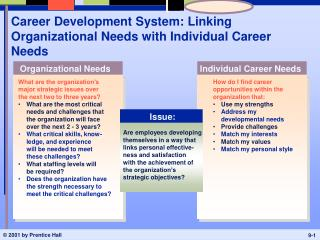 Career Development System: Linking  Organizational Needs with Individual Career Needs