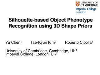 Silhouette-based Object Phenotype Recognition using 3D Shape Priors