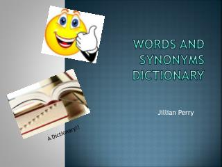 Words and Synonyms Dictionary