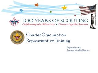 Charter Organization Representative Training