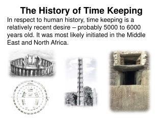 The History of Time Keeping