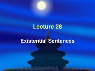 Lecture 28