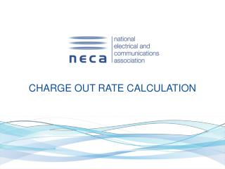 CHARGE OUT RATE CALCULATION