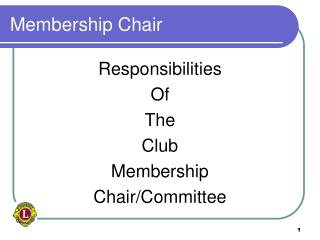 Membership Chair