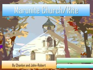Maronite Church/Rite