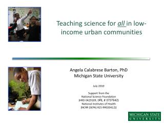 Teaching science for  all  in low-income urban communities