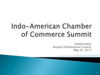 Indo-American Chamber of Commerce Summit