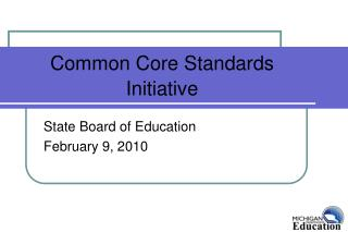 Common Core Standards Initiative