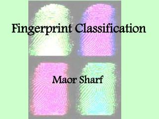 Fingerprint Classification