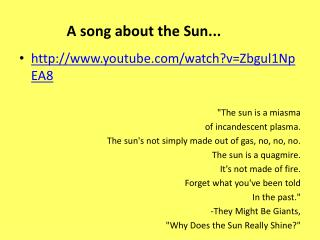 A song about the Sun...
