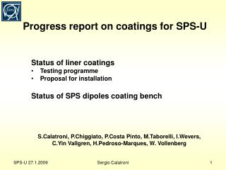 Progress report on coatings for  SPS-U
