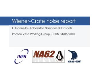 Wiener-Crate  noise report