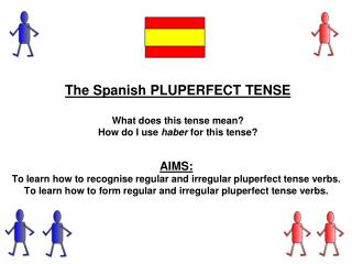 The Spanish PLUPERFECT  TENSE  What  does this tense mean? How do I use  haber for this tense?