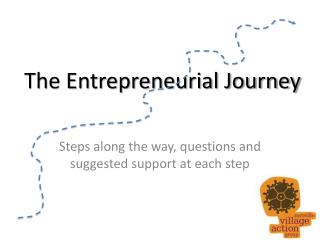 The Entrepreneurial Journey