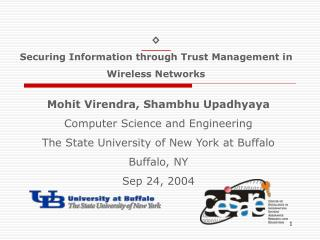 ? Securing Information through Trust Management in Wireless Networks