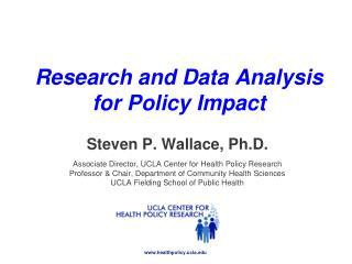 Research and Data Analysis  for  Policy  Impact