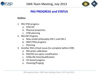 SWA Team Meeting, July 2013