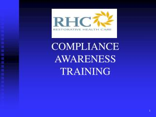 COMPLIANCE  AWARENESS TRAINING