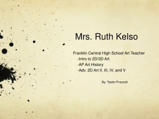 Mrs. Ruth Kelso