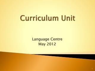 Curriculum Unit