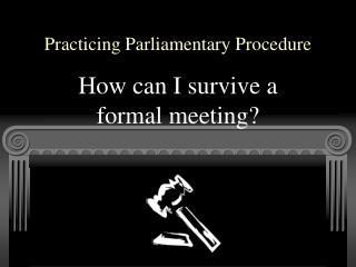 Practicing Parliamentary Procedure