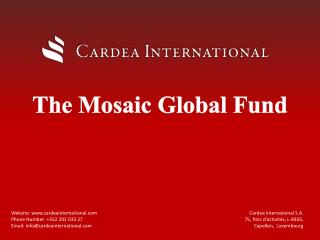 The Mosaic Global Fund