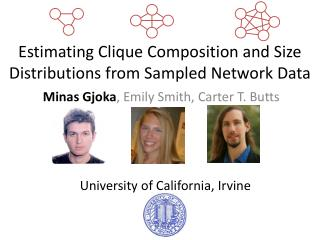 Estimating Clique Composition and Size Distributions from Sampled Network Data