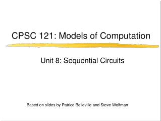 CPSC 121: Models of Computation