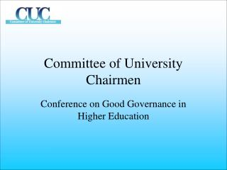 Committee of University Chairmen