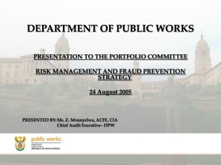 DEPARTMENT OF PUBLIC WORKS