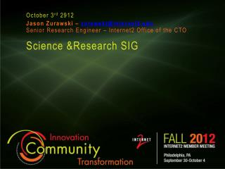 Science &Research SIG
