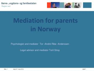 Mediation for parents  in Norway